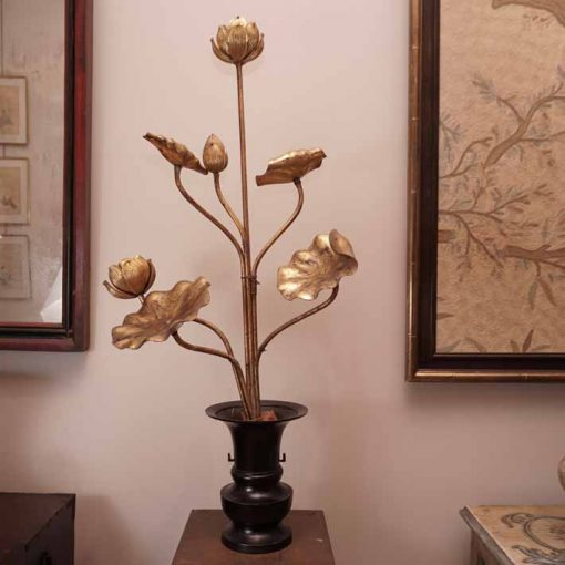 Japanese gilt wood flowers
