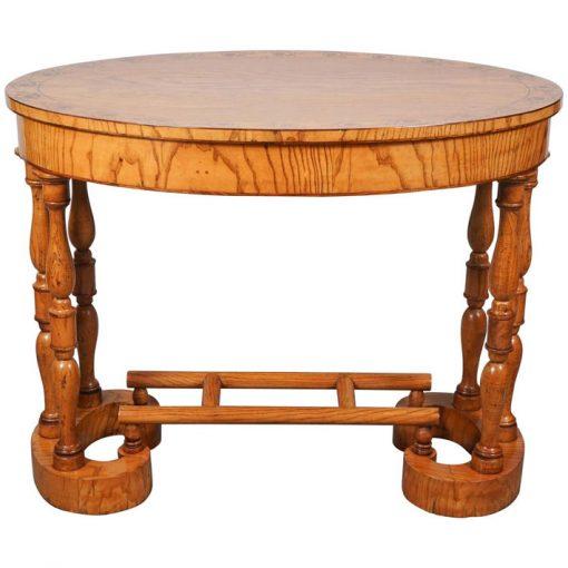 Biedermeier Oval Table