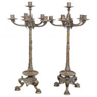 French Bronze Candelabras