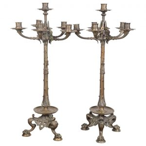 French Bronze Candelabras