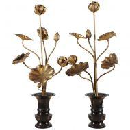 Japanese gilt-wood flowers