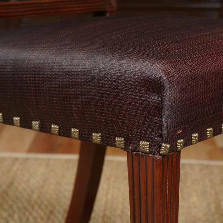 Eight dining chairs