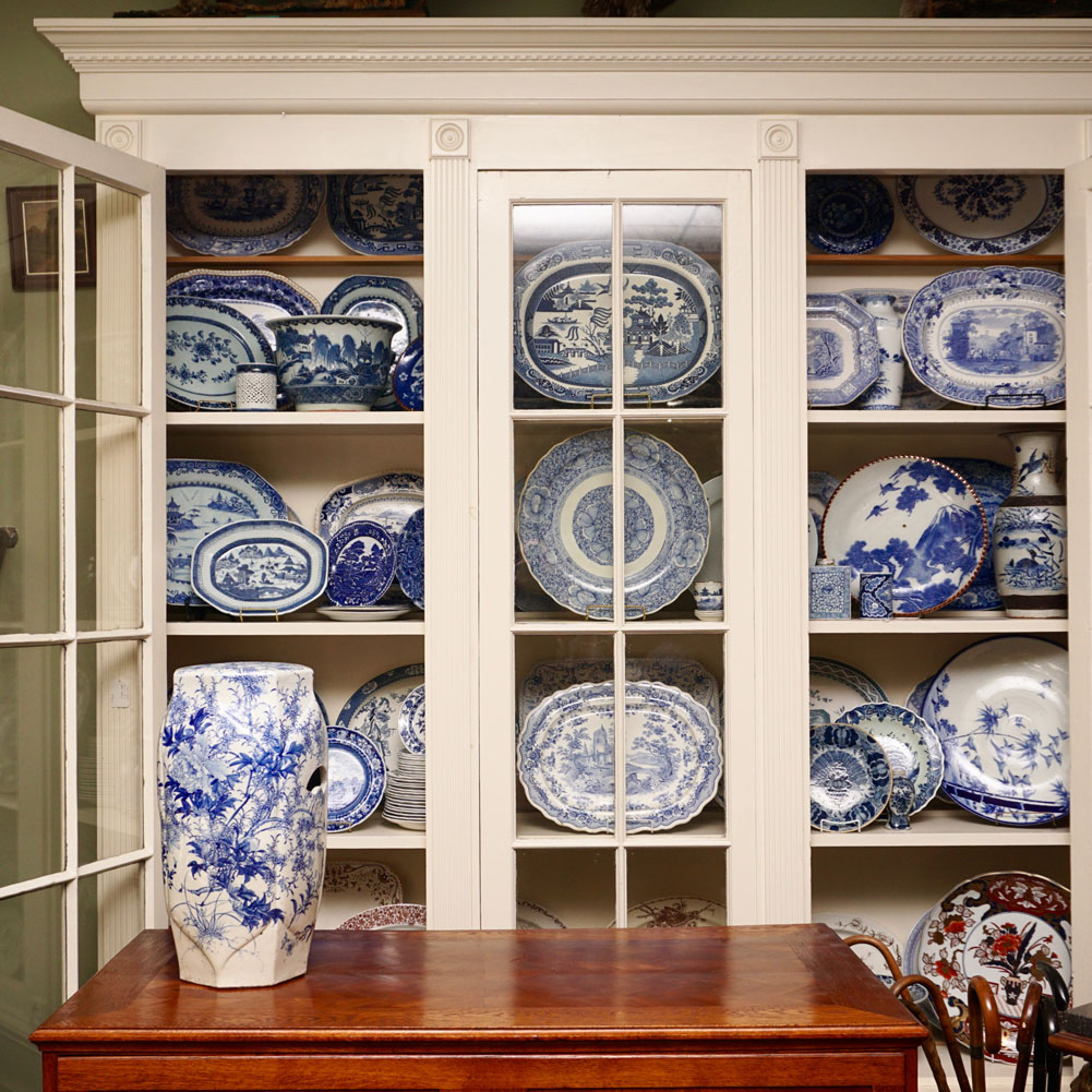 sutter antiques blue white