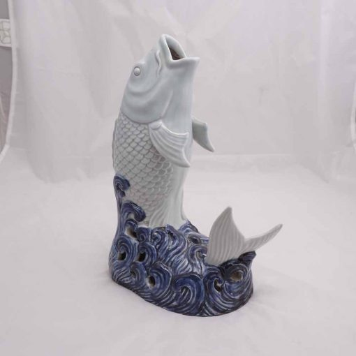 Porcelain carp Hirado ware