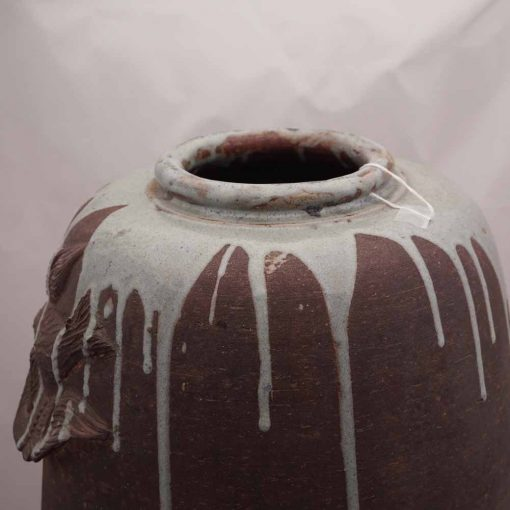 Japanese art vase close