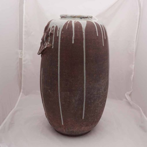 Japanese art vase rear