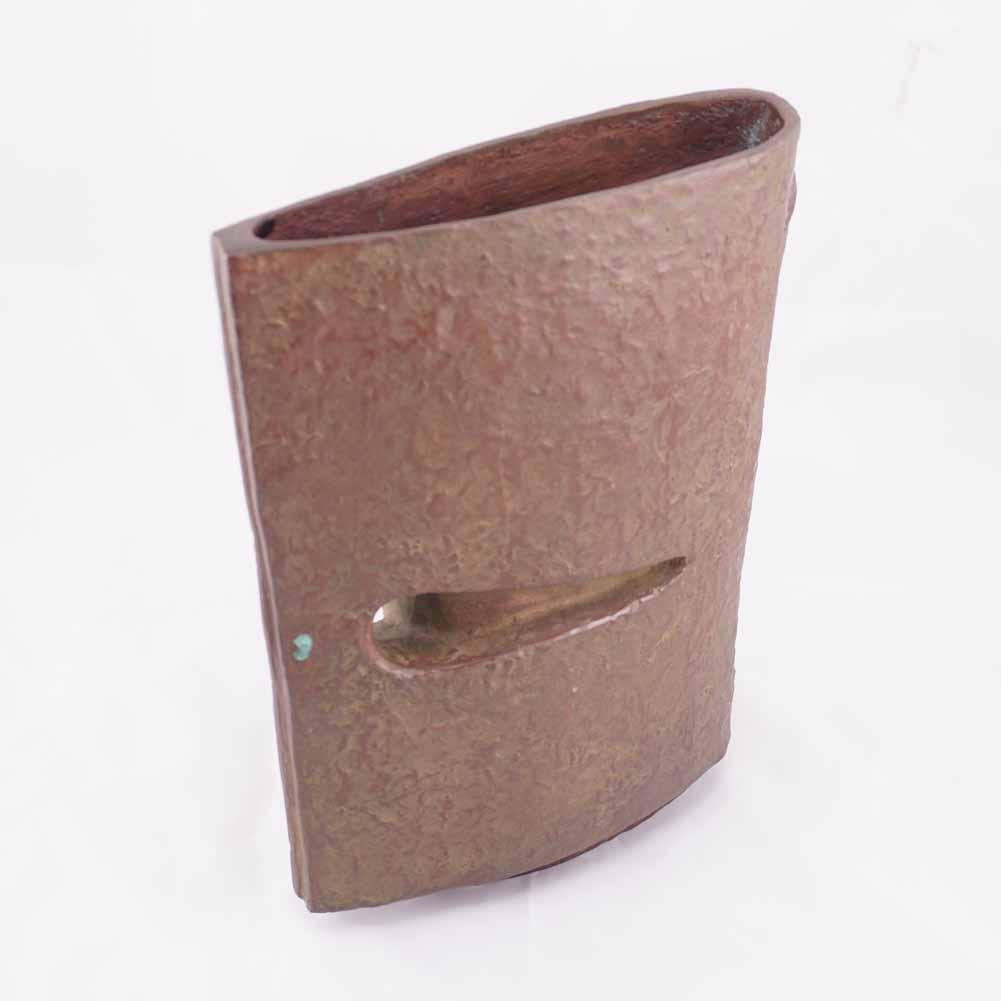 bronze vase signed