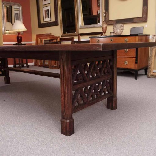 Oak trestle table1