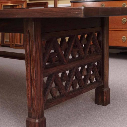 Oak trestle table5