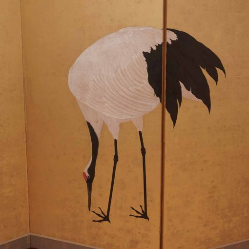 Japanese crane screen