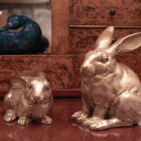 Japanese silver rabbits.
