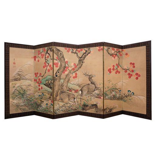 Japanese Meiji screen