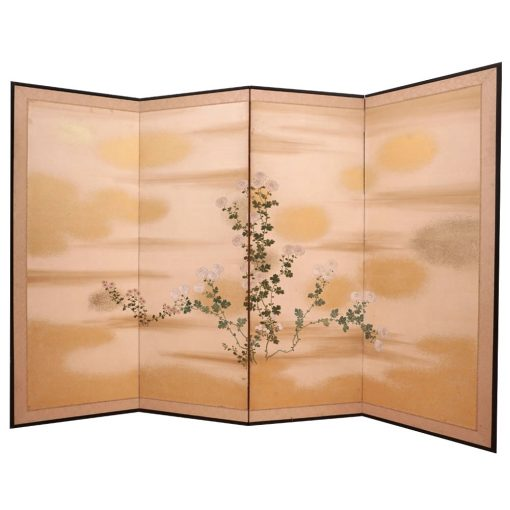 Four panel taisho screen