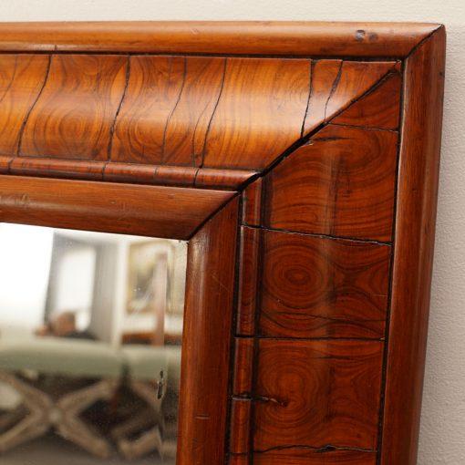 Olive wood mirror detail
