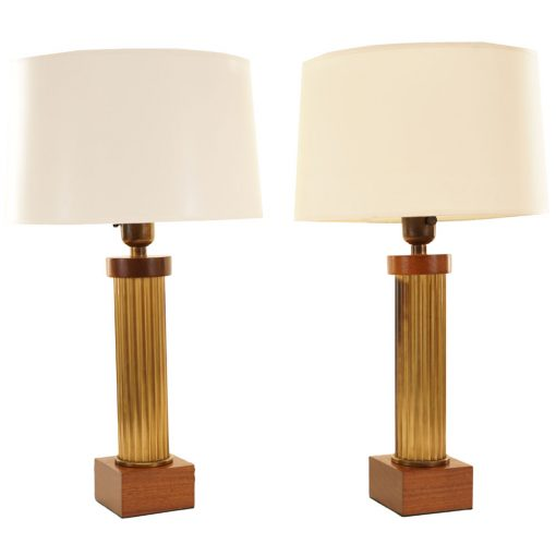 brass column lamps