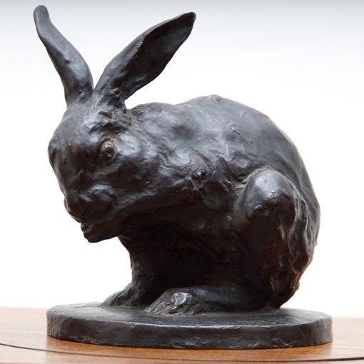 signed bronze rabbit2