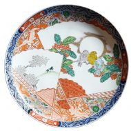imari charger with birds