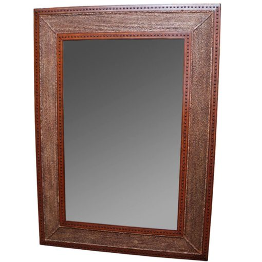 leather frame mirror