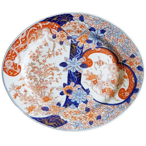 Imari oval platter