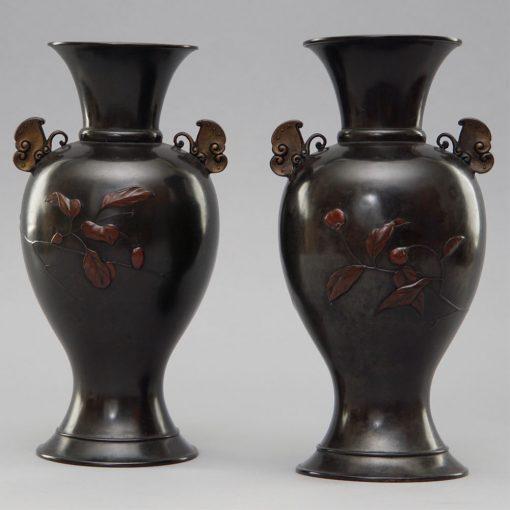 Meiji bronzes pair