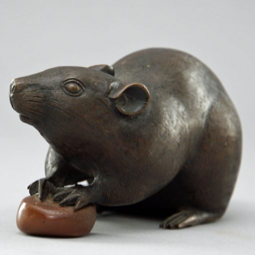 Meiji bronze rat3
