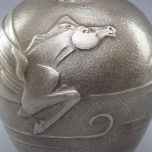 Taisho silver vase4
