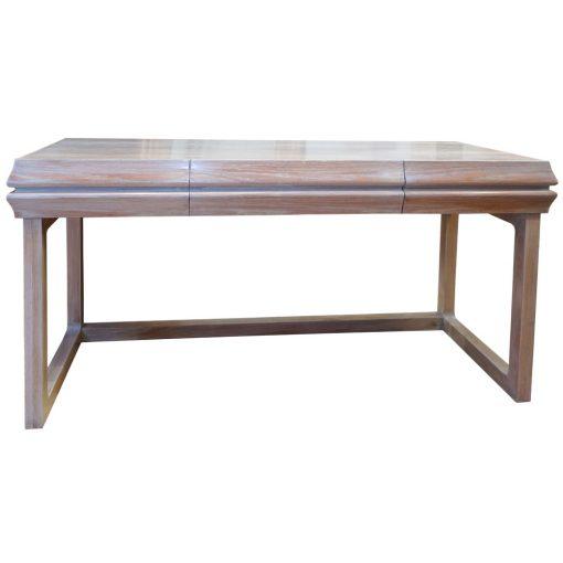 bleached oak desk