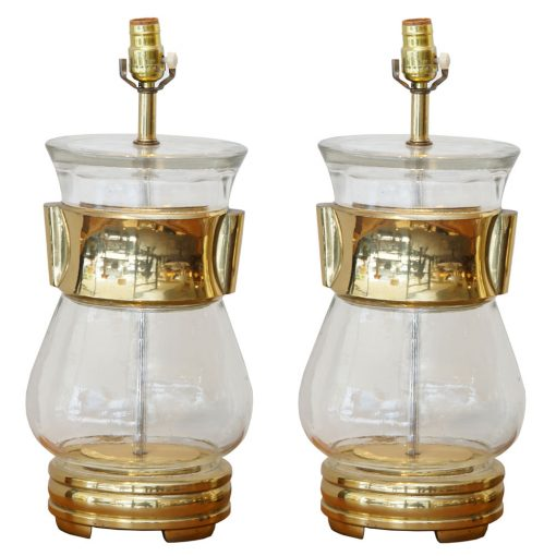 large glass lamps