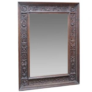Tuscan carved mirror