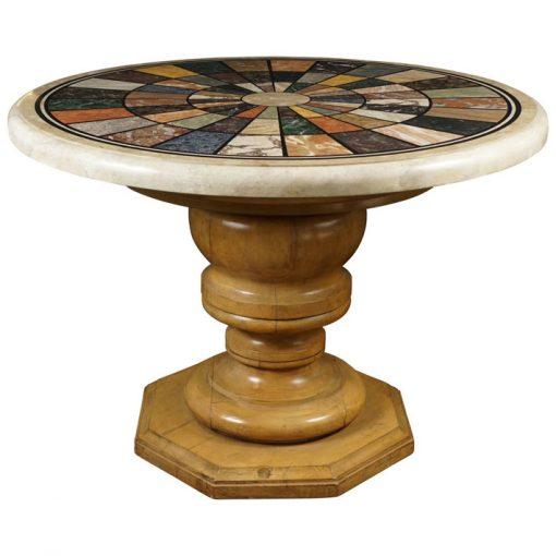 Faux Specimen Marble Table