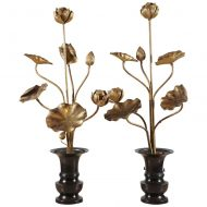 Japanese gilt-wood flowers