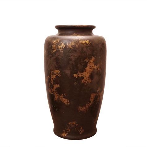 Gold splash bronze vase