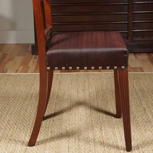 Dining chair side view