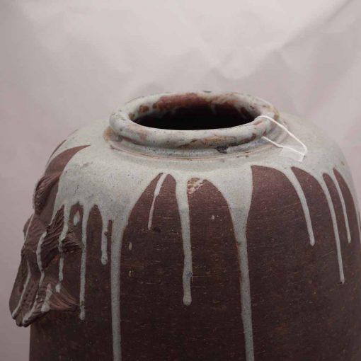 Japanese art vase close