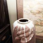 Japanese art vase detail