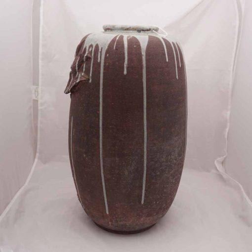 Japanese art vase rear