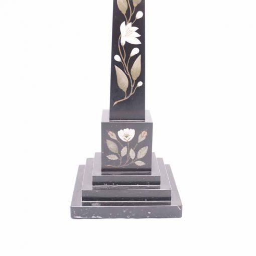 Marble obelisk base