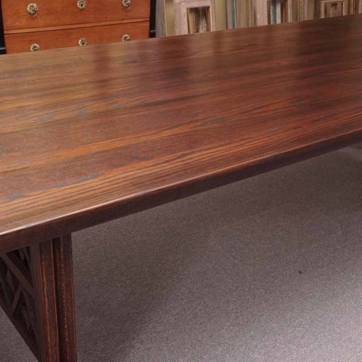 Oak trestle table3