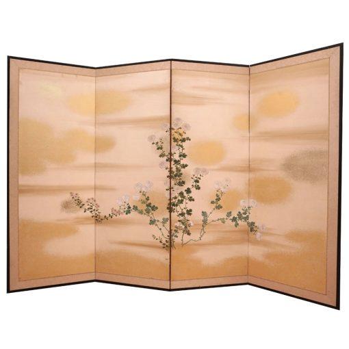 Four panel taisho screen