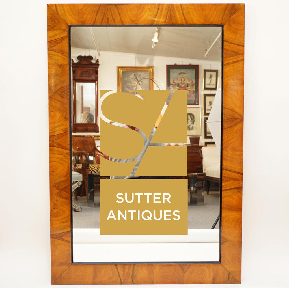 Walnut mirror   Biedermeier   Sutter Antiques   Hudson, NY
