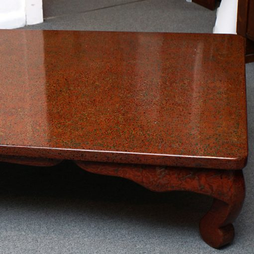 lacquered table