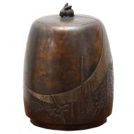bronze tea caddy