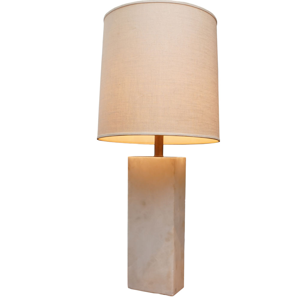 Alabaster Lamp 20th Century Sutter Antiques Hudson Ny