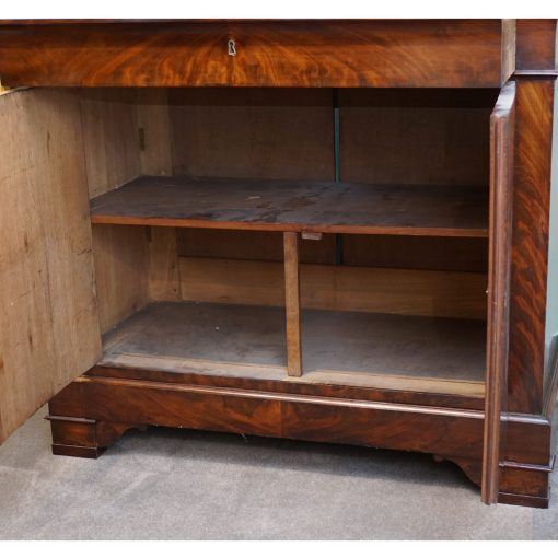 Charles X bookcase open bottom
