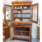 Charles X bookcase open