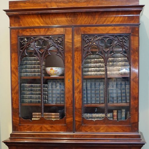 Charles X bookcase top closed