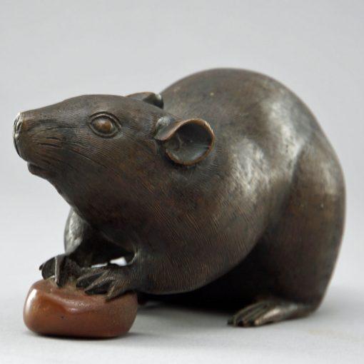 Meiji bronze rat3