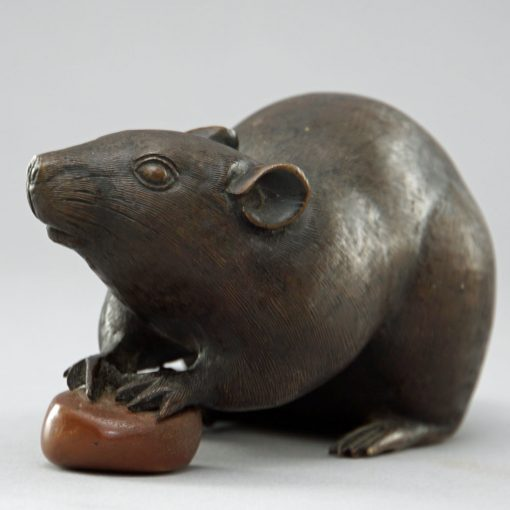 Meiji bronze rat4