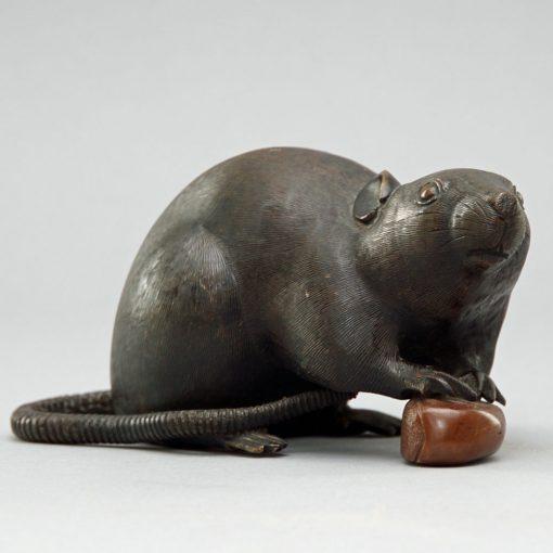 Meiji bronze rat2