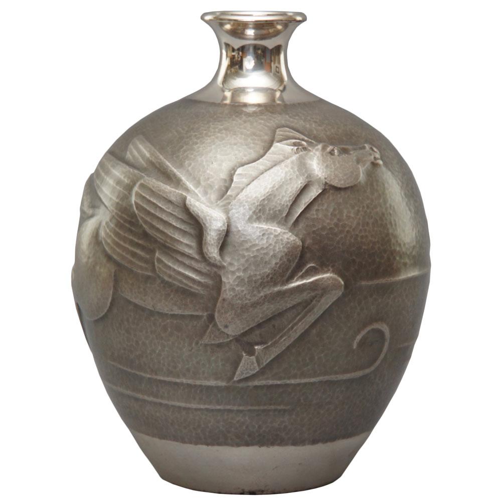 taisho silver vase japanese sutter antiques hudson ny. Black Bedroom Furniture Sets. Home Design Ideas